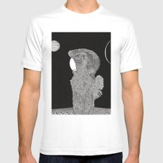 The Astronaut White Mens Fitted Tee MEDIUM