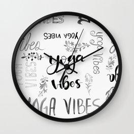 Yoga Vibes Wall Clock