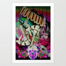 Babes in hot dog land Art Print