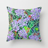 tangled Throw Pillows featuring Tangled by marlene holdsworth