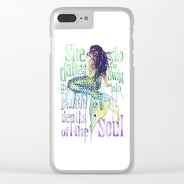 Mermaid : Profound Depths Clear iPhone Case