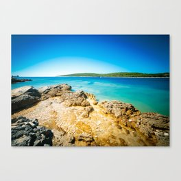 summer day in Croatia Canvas Print