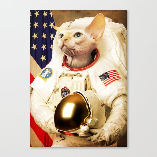 Astronaut Cat Canvas Print