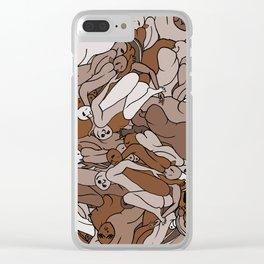 Chocolate Coffee Body Slugs Clear iPhone Case