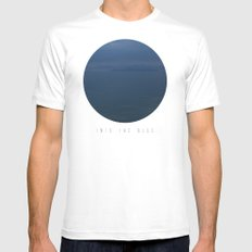 Into The Blue  White MEDIUM Mens Fitted Tee
