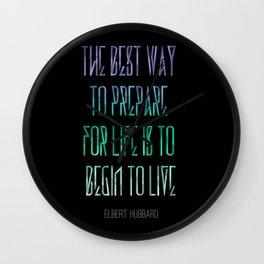 Live Life Wall Clock