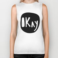 okay Biker Tanks featuring Okay by ParthKothekar