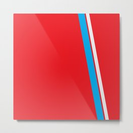 Red Slant Metal Print