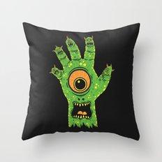 Finger Monsters Throw Pillow