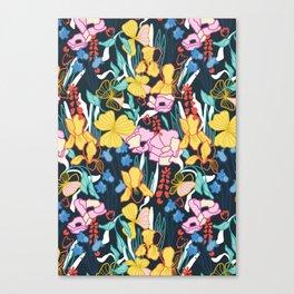Tropical Flower Gardens Canvas Print