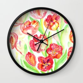Mothers Day Tulips Wall Clock