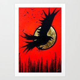Raven Storm Art Print