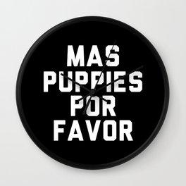 Mas puppies por favor Wall Clock
