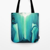 witch Tote Bags featuring Witch by Annya Kai