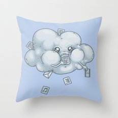 Cloud Storage Throw Pillow