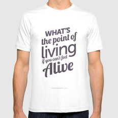 What's the point White MEDIUM Mens Fitted Tee