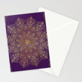 Gold Mandala Stationery Cards