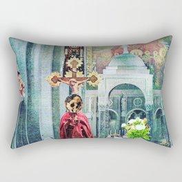 I Live Below Rectangular Pillow