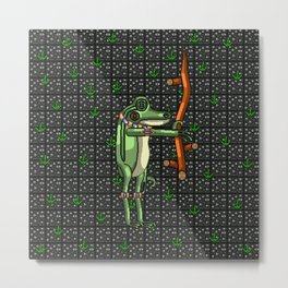 Briar the Frog Magician Metal Print