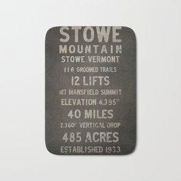 Stowe Ski Vermont Mountain Sign Bath Mat