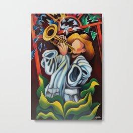 Trumpet II. Miguez Art Metal Print