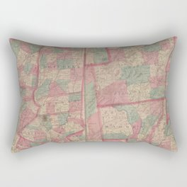 Asher & Adams' new map of the Hudson RiverAdditional New map of the Hudson River  -  delineating the country from Long Branch to AlbanyAdditional Map  Rectangular Pillow