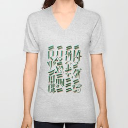 MIND & SOUL Calligraphy  Unisex V-Neck