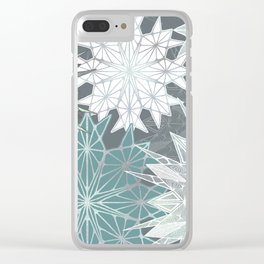 Holiday Snowflakes Clear iPhone Case