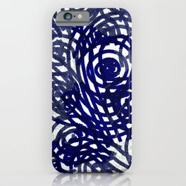 Evil Eye Navy_abstract digital painting iPhone Case