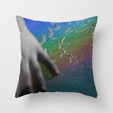 Magic v. Science Throw Pillow