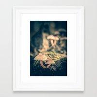 mushrooms Framed Art Prints featuring mushrooms by Koka Koala