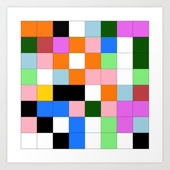 "Math Art Digital Print - ""ColoRs foR a laRge wall"" Art Print"
