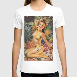 Pineapple Pin Up  T-shirt