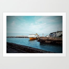 MV Côte d'Albâtre at Dieppe Art Print