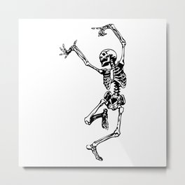Dancing Skeleton | Day of the Dead | Dia de los Muertos | Skulls and Skeletons | Metal Print