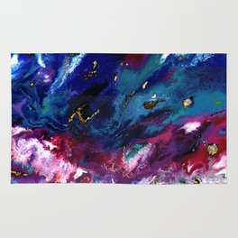 Brendon Urie abstract synesthetic painting Rug