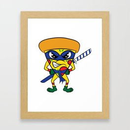 """Luscious and fierce """"Ninja Pizza"""" tee design. Perfect gift for pizza lovers like you!  Framed Art Print"""