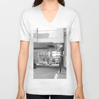 stephen king V-neck T-shirts featuring Stephen Avenue by RMK Creative