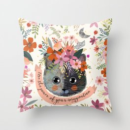 Use the power of your imagination Throw Pillow
