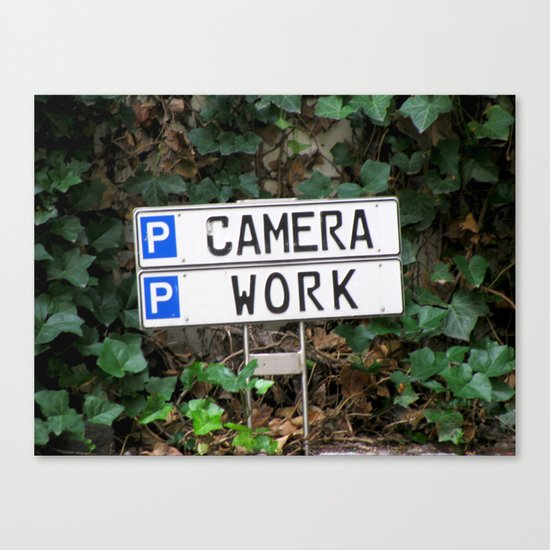 Camera work Canvas Print