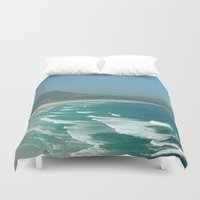 south africa Duvet Covers featuring Cape of Good hope to south Africa by Tanja Riedel