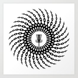 Disc Golf Basket Chains Art Print