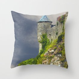 Small Tower of Mont St. Michel Throw Pillow