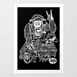 DJ APE Art Print