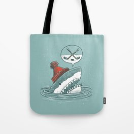 Hockey Shark Tote Bag