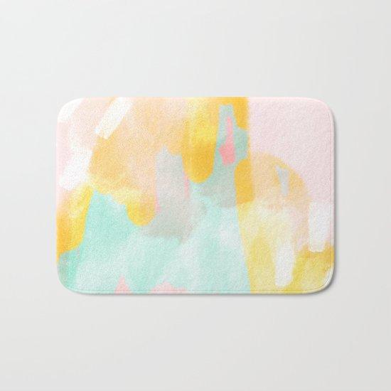 Soft Pastel summer abstract Bath Mat