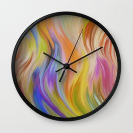 Abstract painting color texture 6 Wall Clock