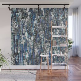 Abstract blue 2 Wall Mural