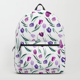Tulips flowers Backpack
