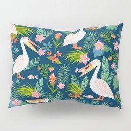 Floral Pelican Pillow Sham